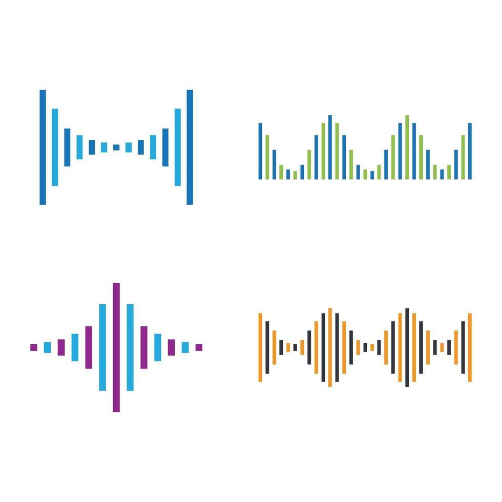 ensemble d'images d'ondes sonores vecteur