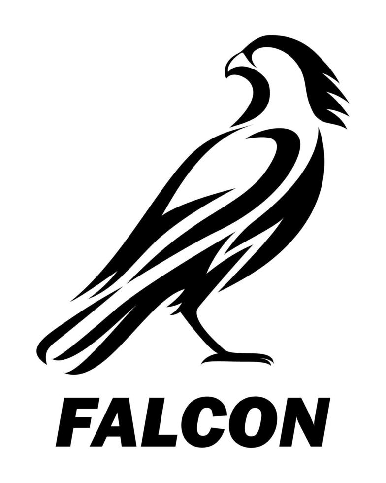 vecteur de logo noir d & # 39; un faucon eps 10