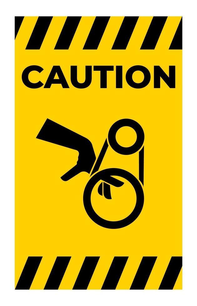 signe de symbole d'entraînement de courroie d'enchevêtrement de main, illustration vectorielle, isoler sur l'étiquette de fond blanc .eps10 vecteur
