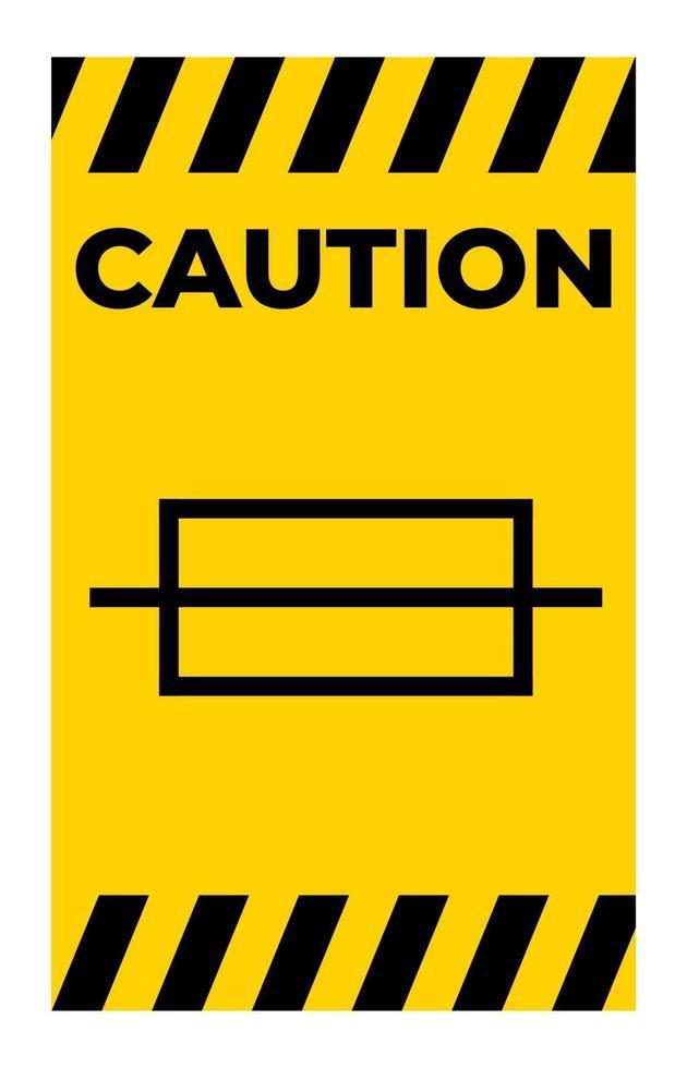 Attention symbole de fusible signe sur fond blanc vecteur