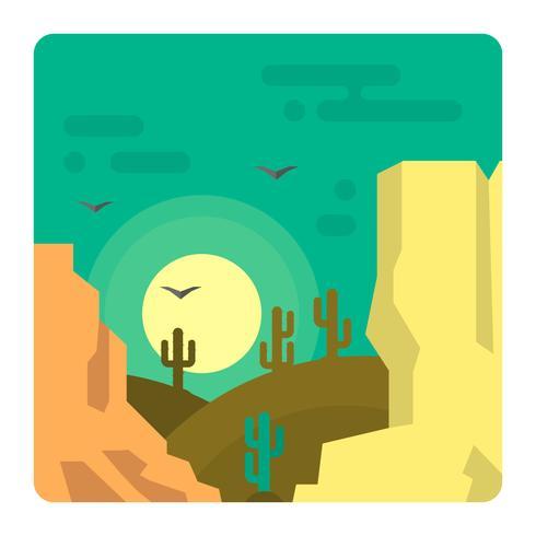 Paysage du désert occidental vecteur