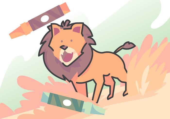 Livre à colorier Lion vecteur