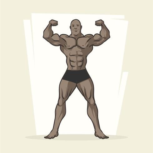 bodybuilder vecteur