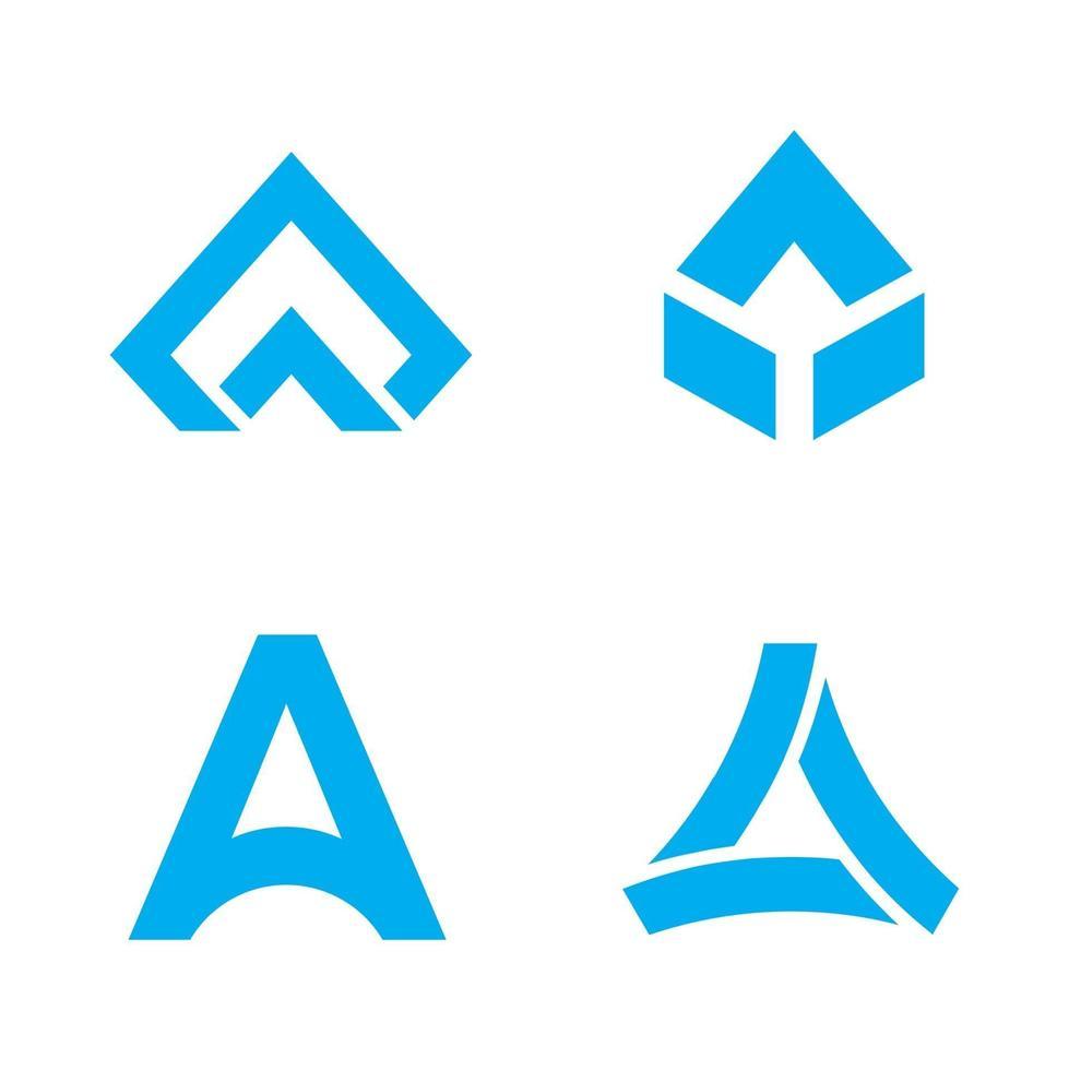 icon set lettre un logo vecteur