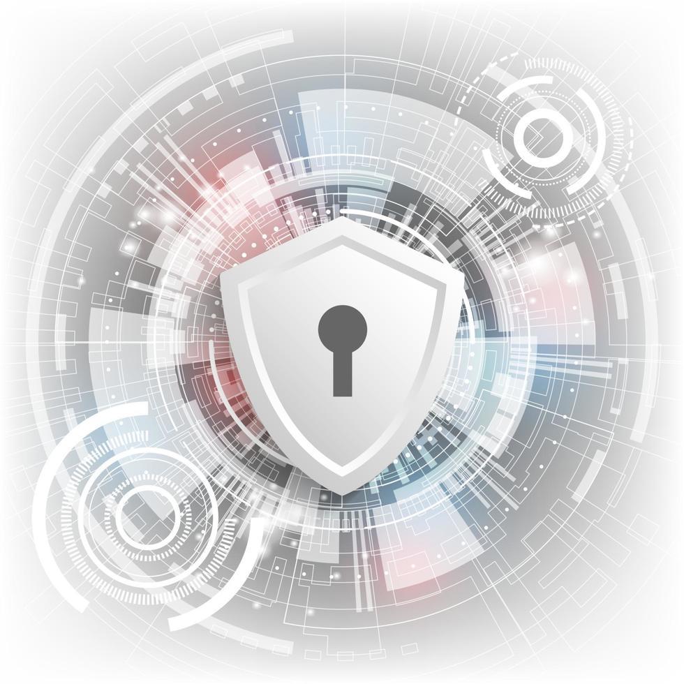fond de technologie vectorielle dans le concept de systèmes de sécurité. vecteur