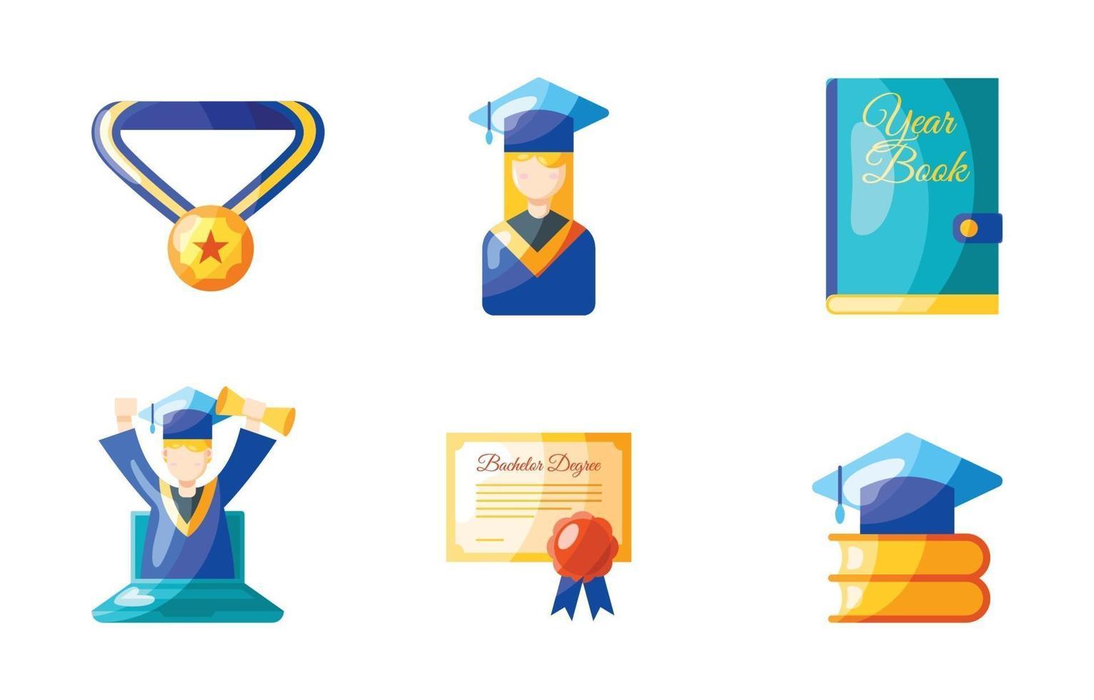 jeu d & # 39; icônes de graduation vecteur