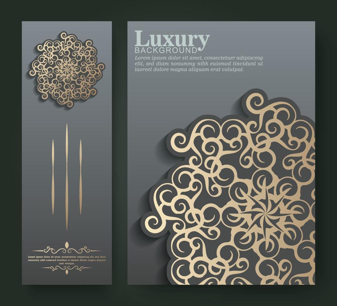 couverture et carte de style mandala premium vecteur