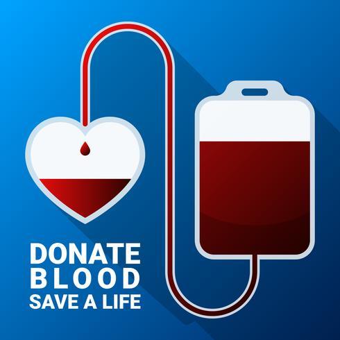 Faire un don de sang plat Illustration vecteur
