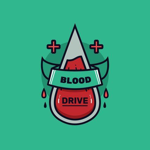 Vecteur de Badge de sang