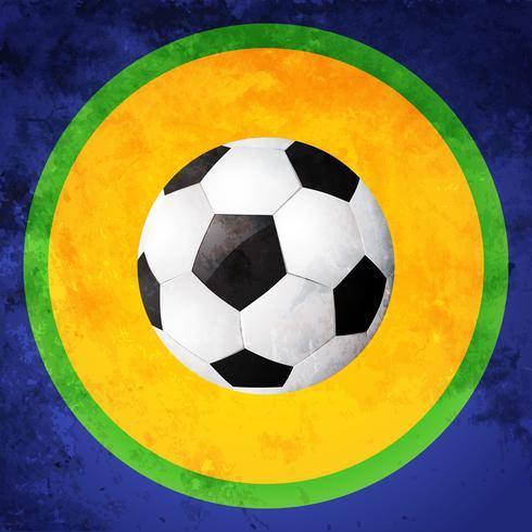 conception de football coloré vecteur