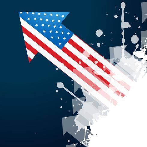 flèche du drapeau américain vecteur