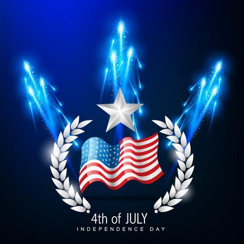 4 juillet fête de l'indépendance vecteur