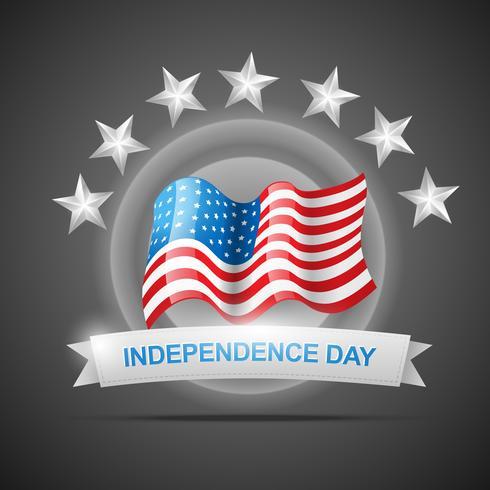 fête de l'indépendance 4 juillet vecteur
