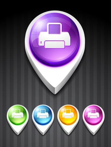 icône de l'imprimante vecteur