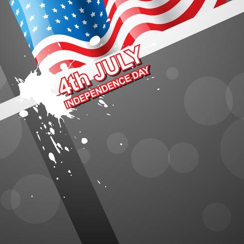 4 juillet fête de l'indépendance américaine vecteur