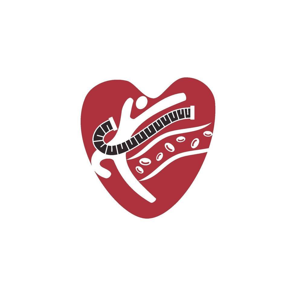 cholestérol dans l'illustration de conception de vecteur de risque de santé artérielle