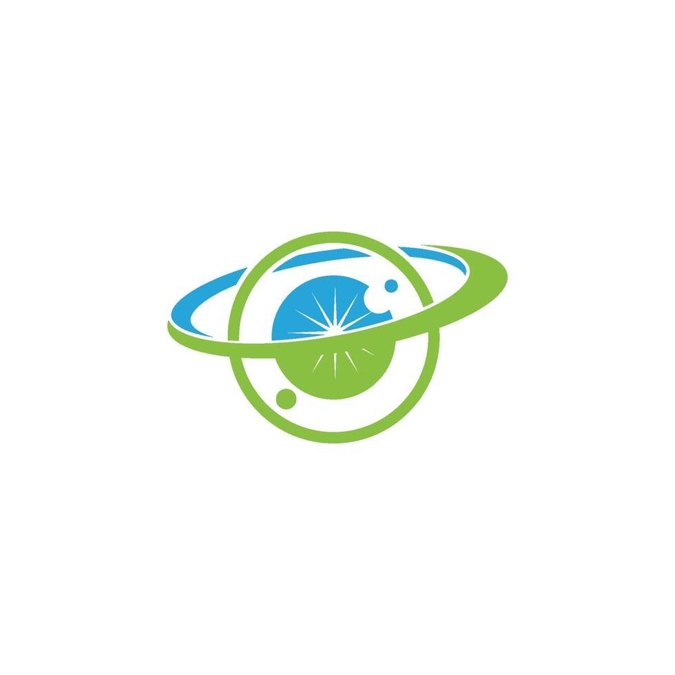 icône de modèle de conception de santé des soins oculaires vecteur