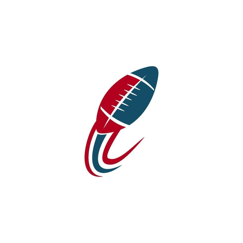 emblème de conception de modèle de logo de sport de football américain vecteur