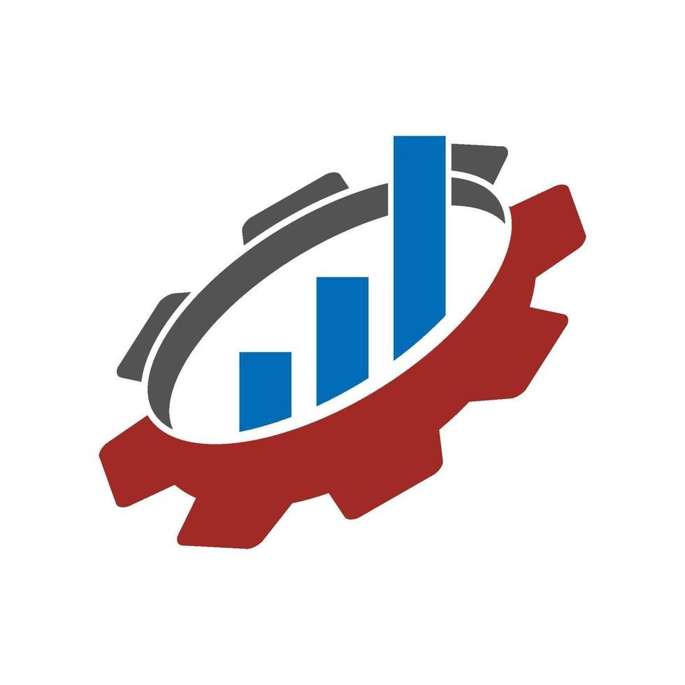 icône de vecteur de modèle de conception de logo d'entreprise barres d'engrenage