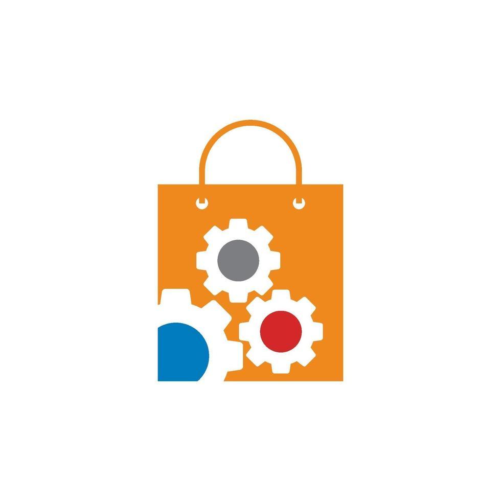 icône de modèle de conception d & # 39; entreprise de magasin d & # 39; équipement vecteur