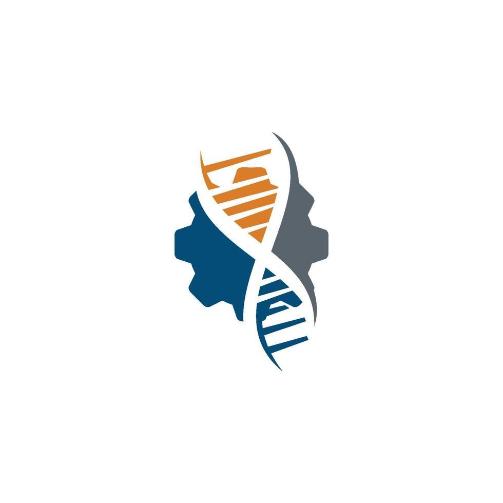 concept d'icône illustration santé génétique design vecteur