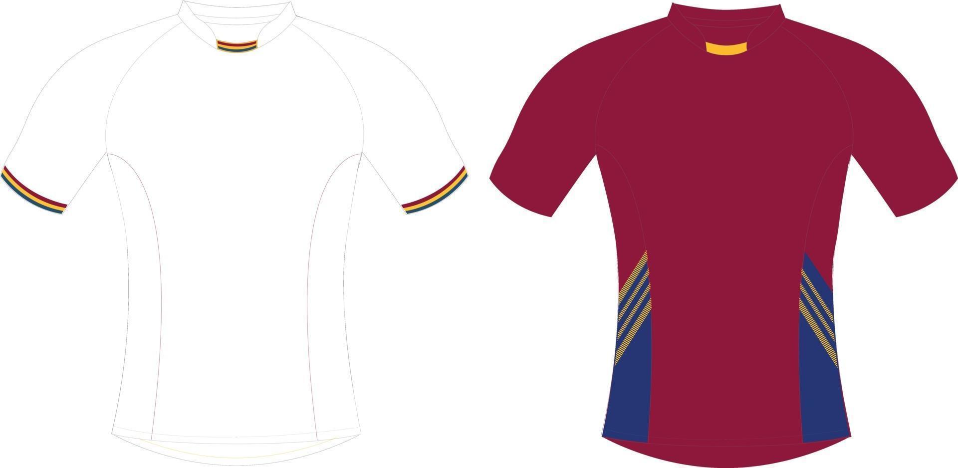 maquettes de maillots de football vecteur