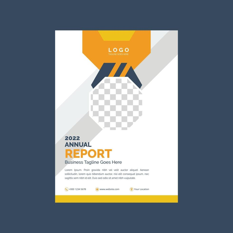 conception de couverture de flyer entreprise vecteur