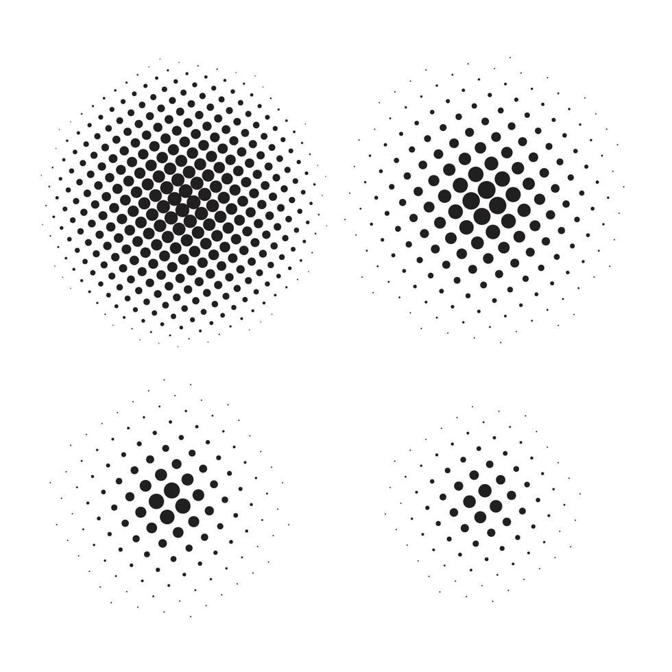 élément de demi-teinte abstrait pour la conception graphique. illustration vectorielle vecteur