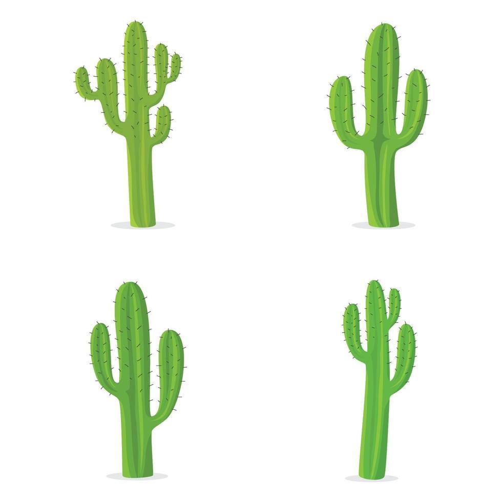 ensemble de cactus vert. illustration vectorielle vecteur