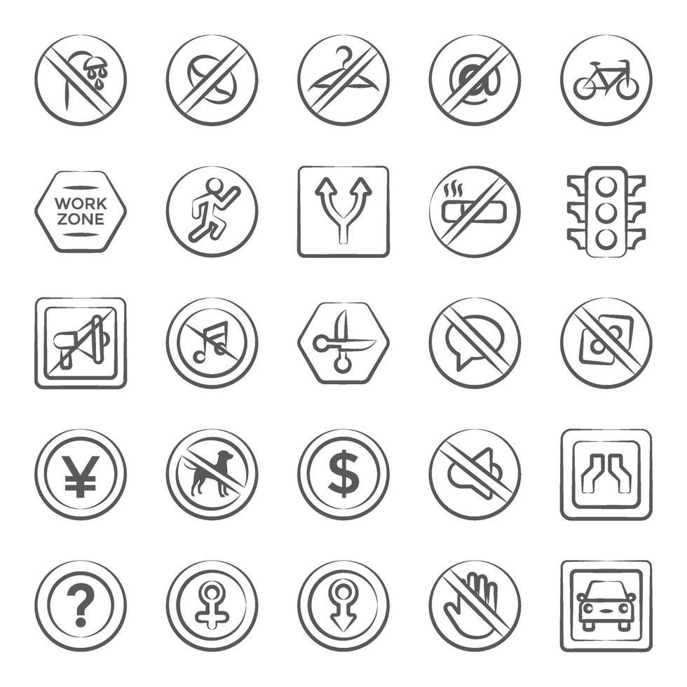 signe et symbole à la mode vecteur