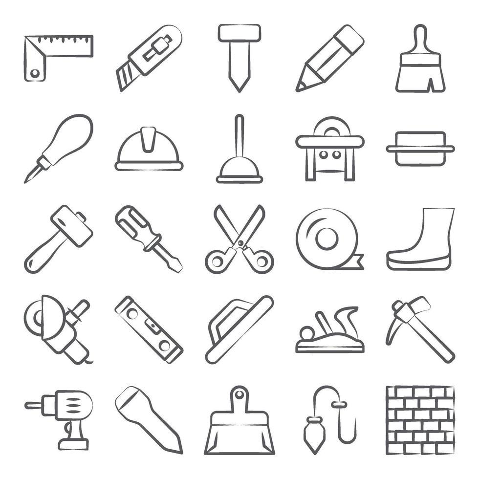 outils et équipements de construction vecteur