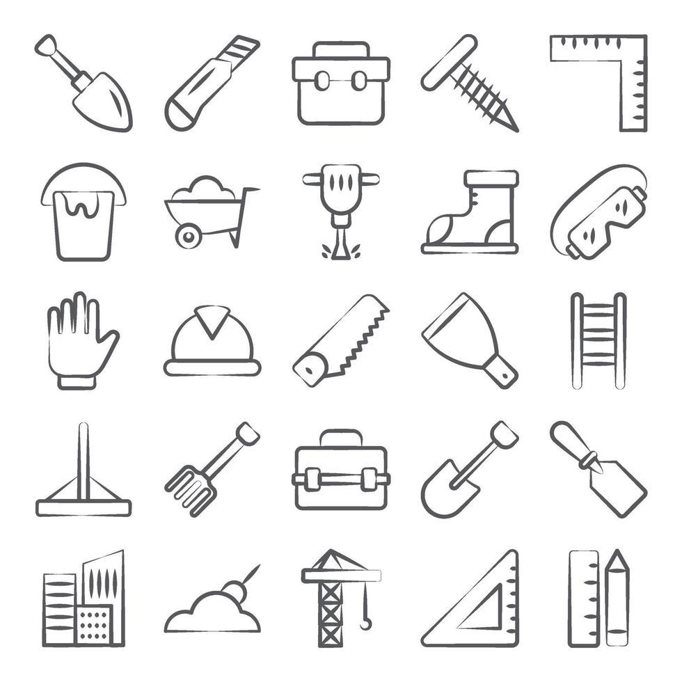 réparer les outils et l'équipement vecteur
