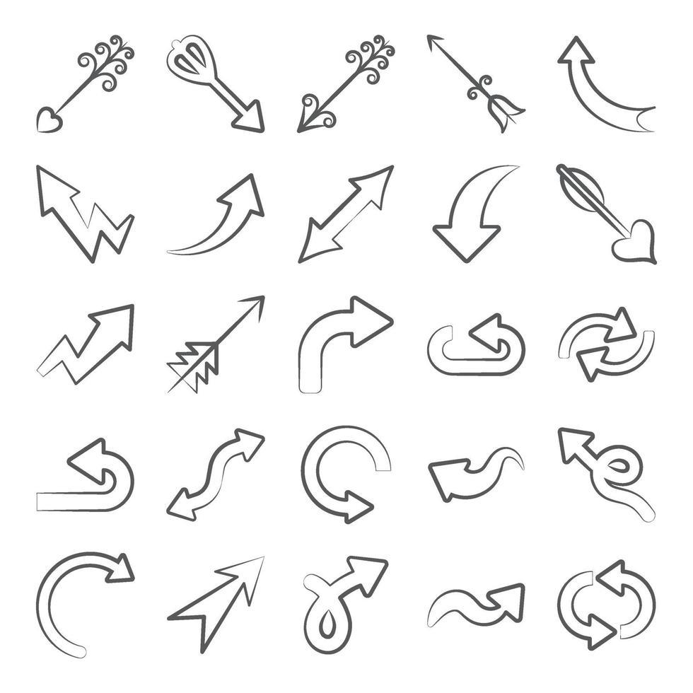 flèches d'indication modernes vecteur
