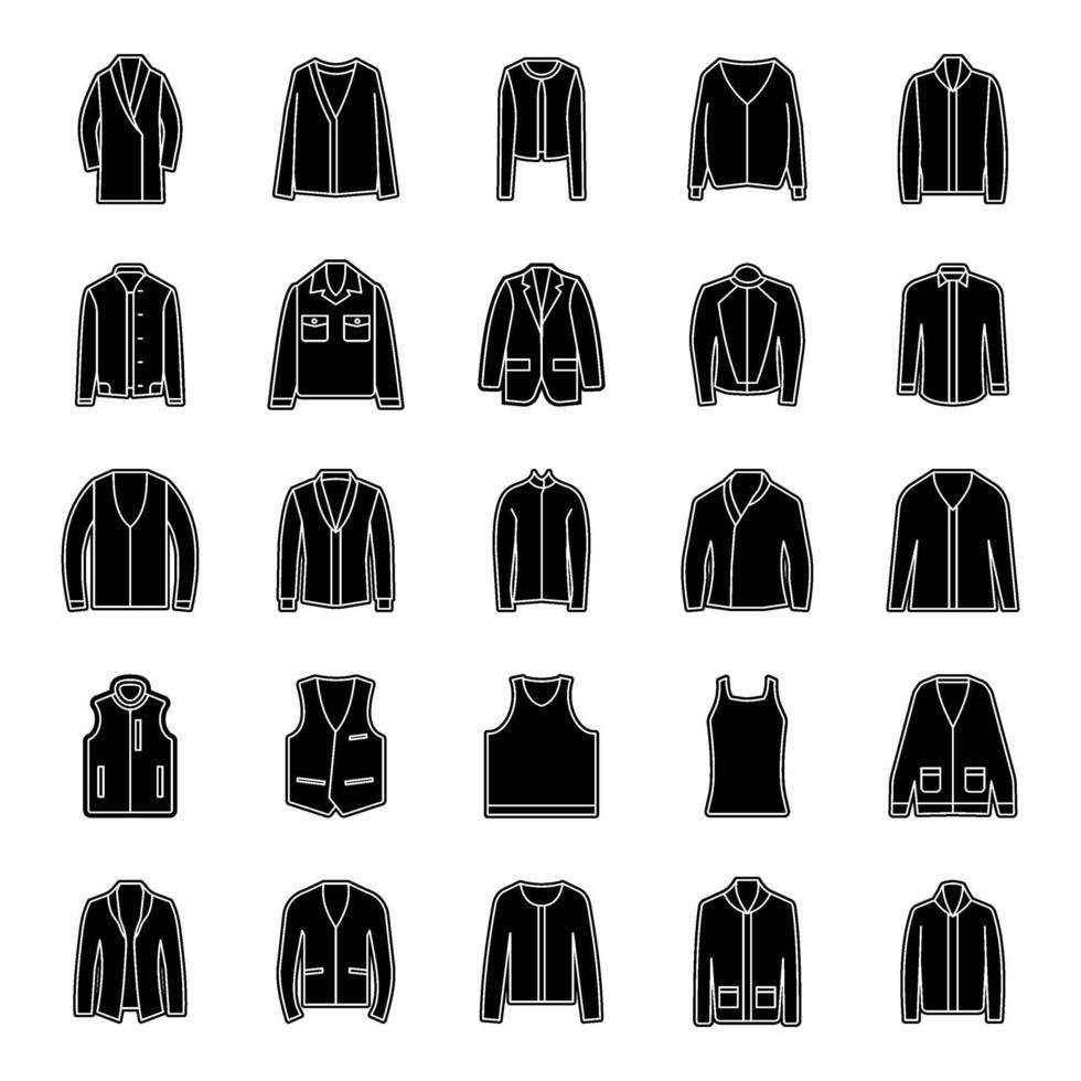 vêtements de mode et d'hiver vecteur