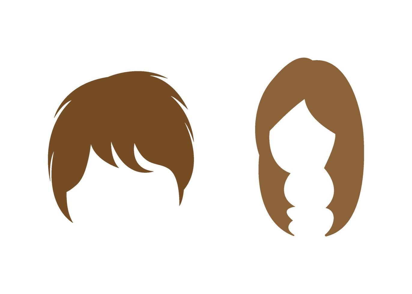 perruque icône illustration vectorielle ensemble vecteur
