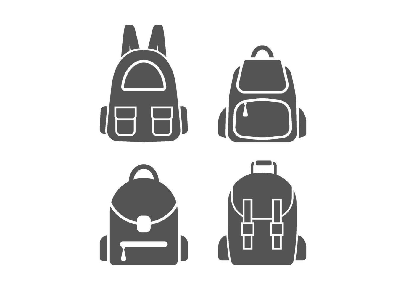 sac d & # 39; école icône illustration vectorielle ensemble vecteur