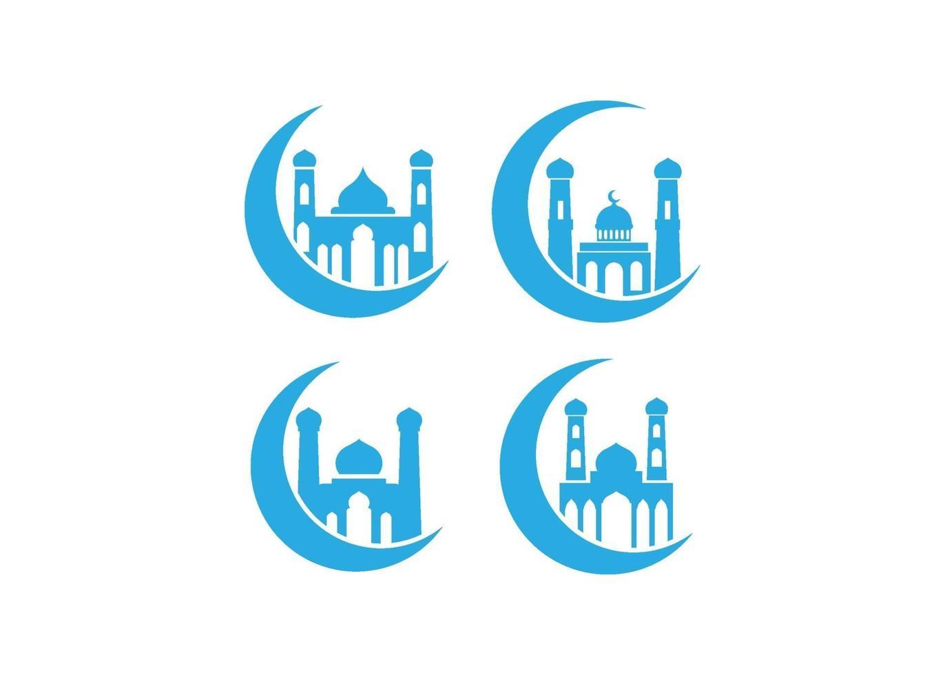 jeu de mosquée icône illustration vectorielle vecteur