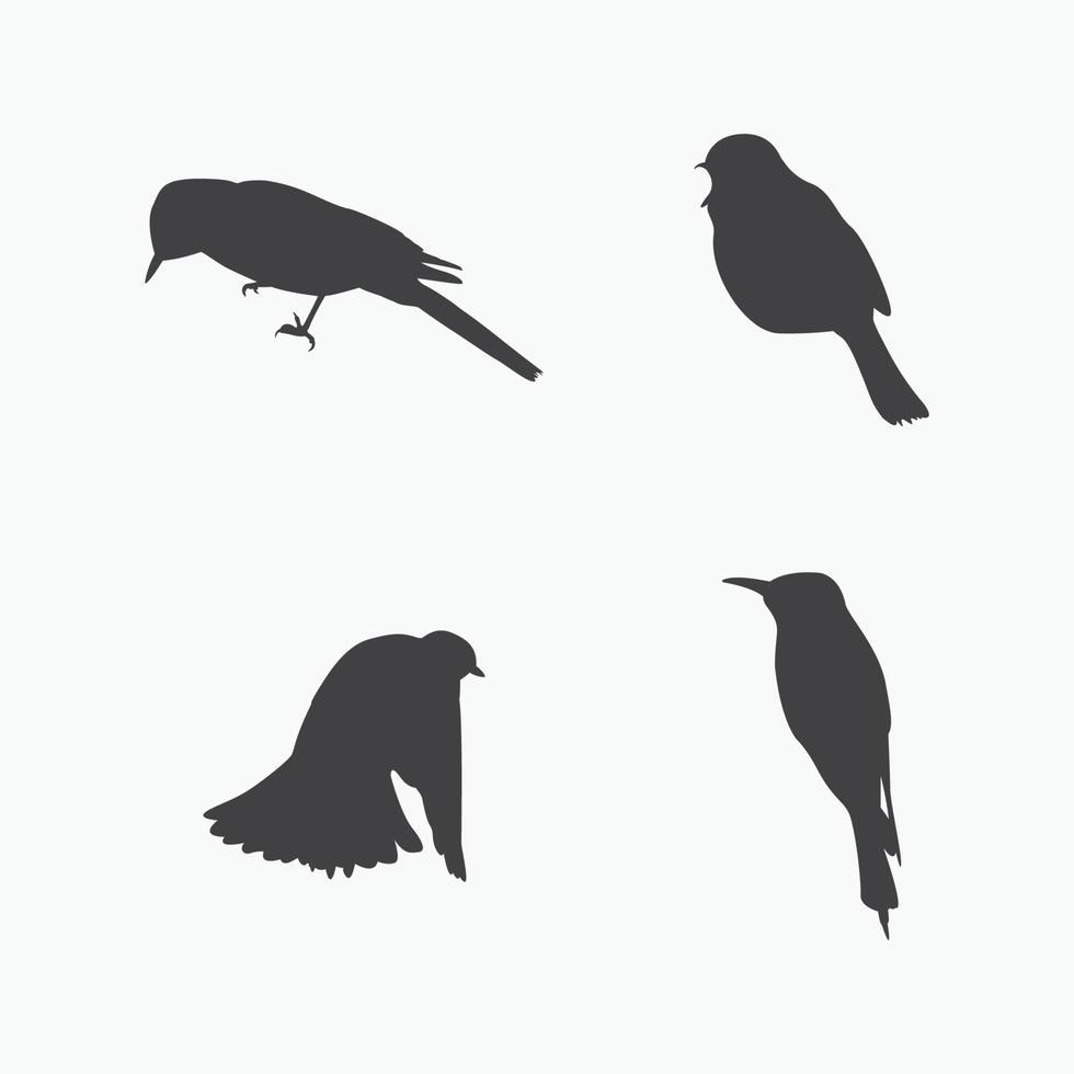vecteur de silhouette d'oiseau