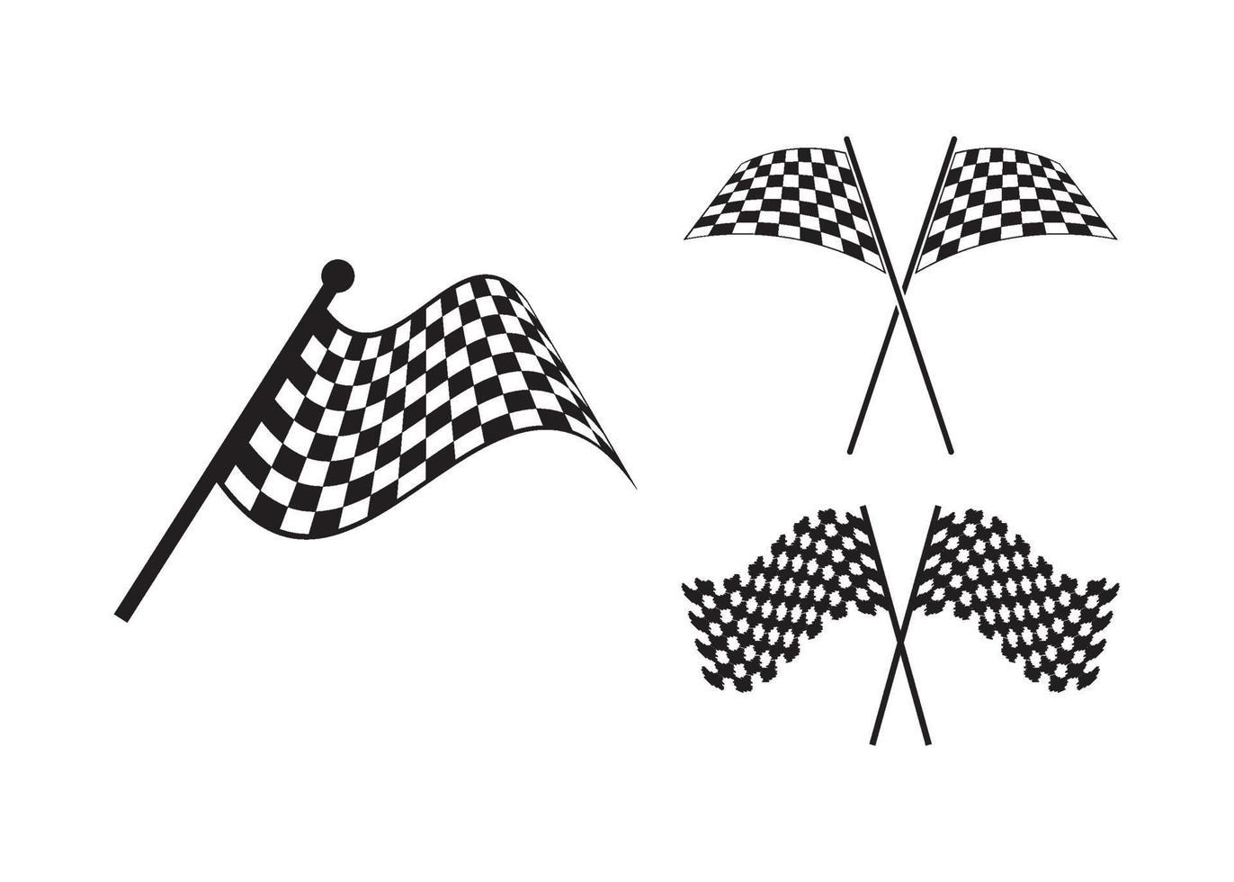 drapeau de course icône illustration vectorielle ensemble vecteur