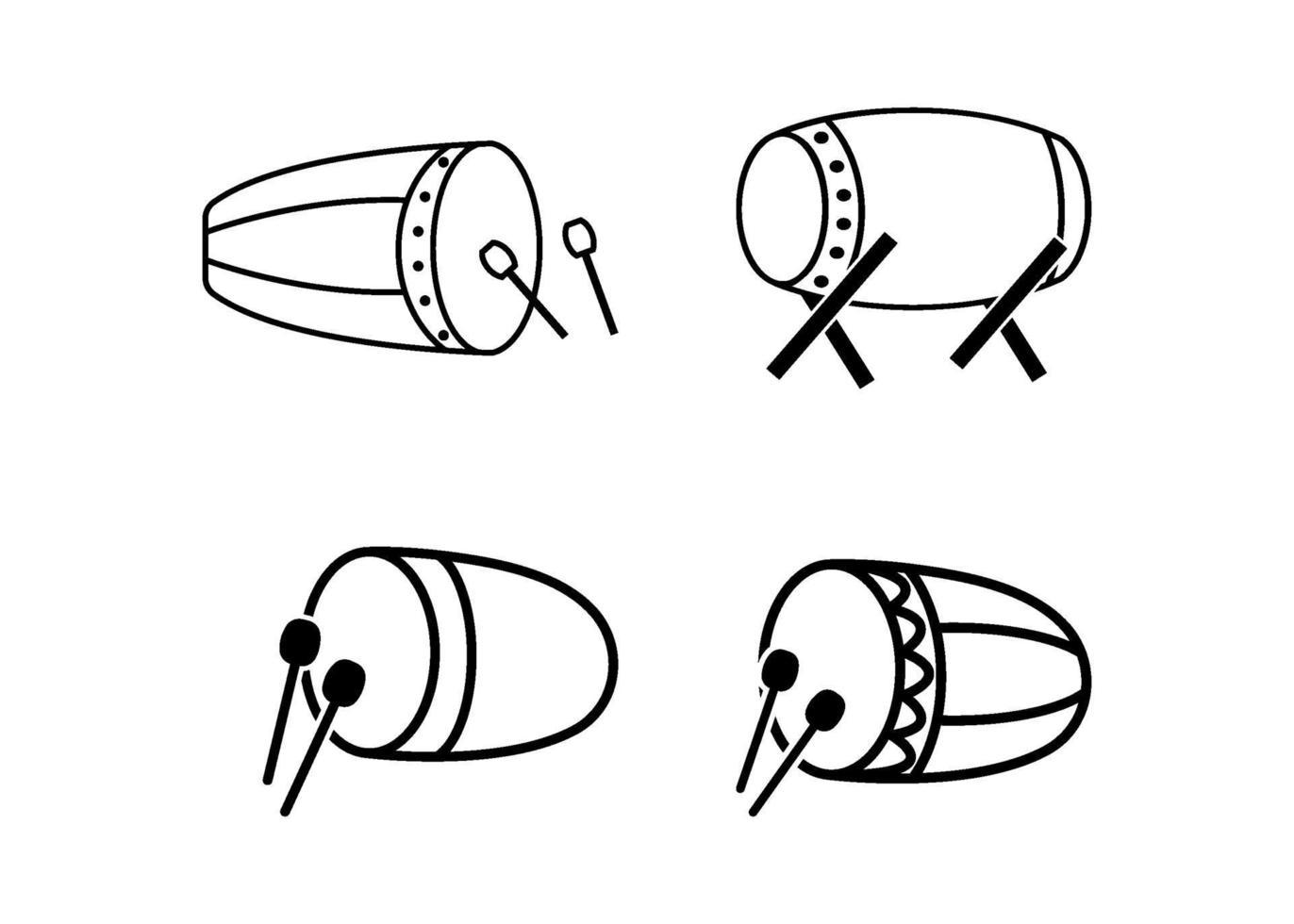 icône de tambour islamique modèle de conception illustration vectorielle vecteur