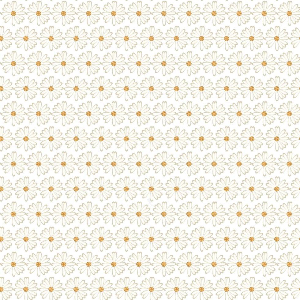 motif de fleur blanche vecteur gratuit