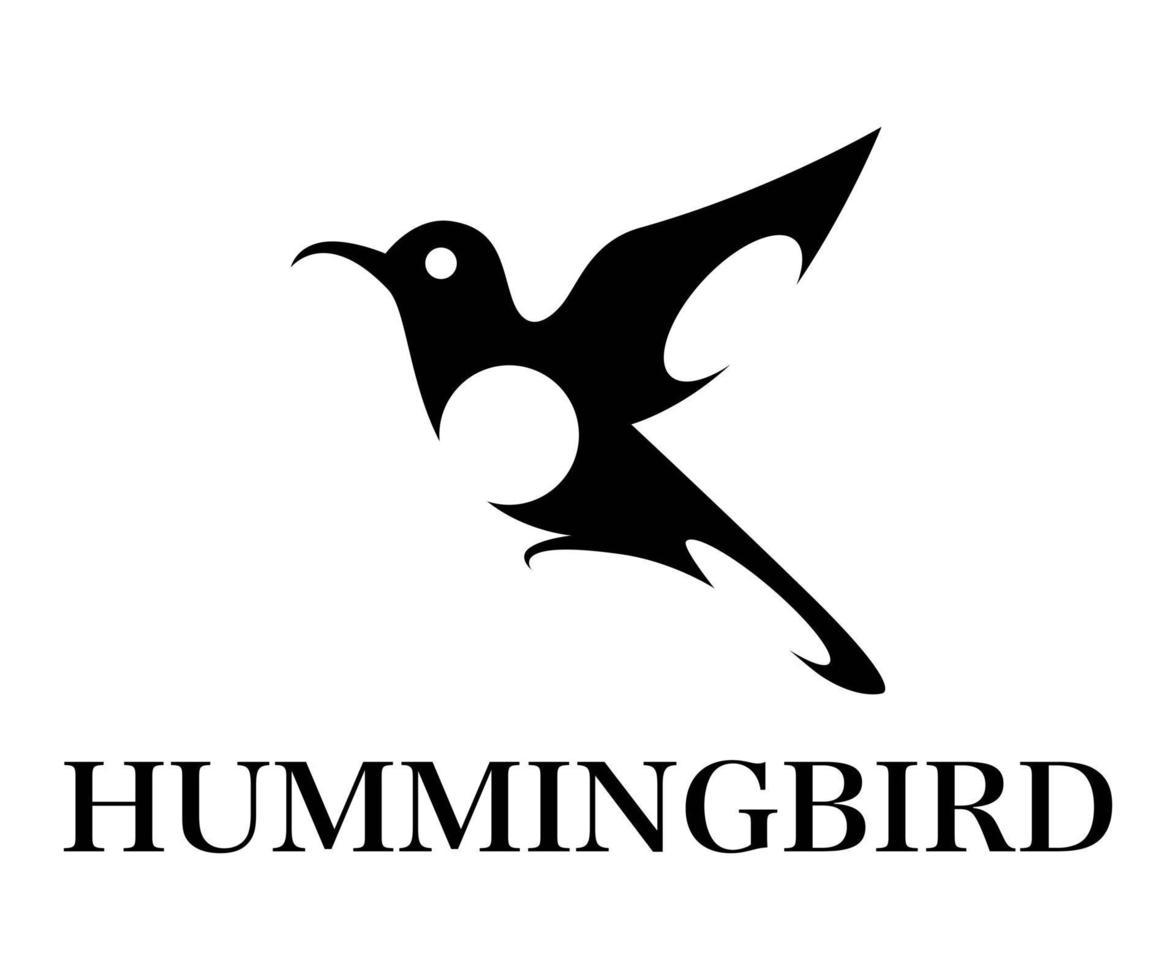 adobe illublack symbole illustration vectorielle sur fond blanc de colibri volant. convient à la création d'œuvres d'art logosstrator vecteur