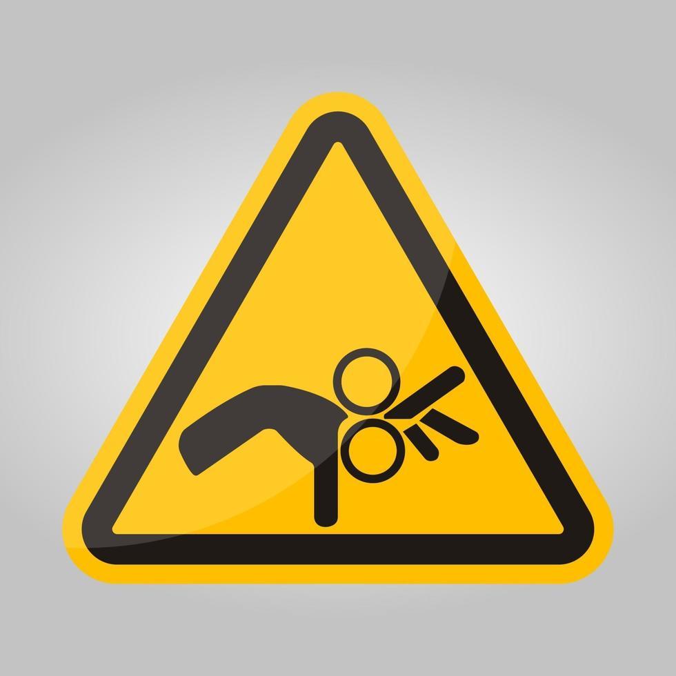 Méfiez-vous signe de symbole de rouleau isoler sur fond blanc, illustration vectorielle eps.10 vecteur