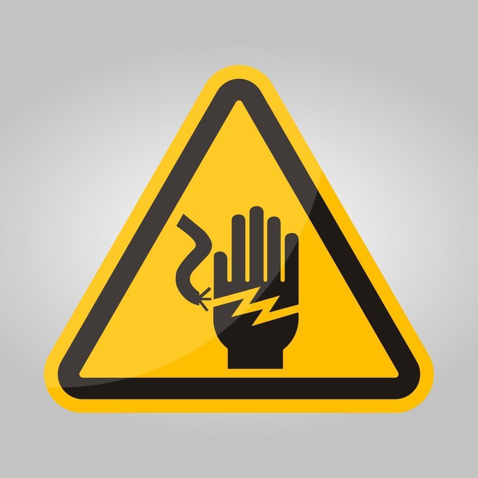 signe de symbole d'électrocution de choc électrique, illustration vectorielle, isoler sur l'étiquette de fond blanc .eps10 vecteur