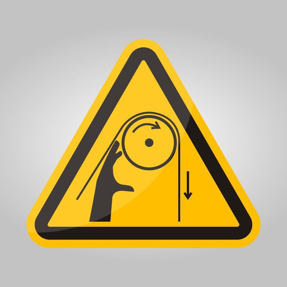 signe de symbole de rouleaux d'enchevêtrement de main, illustration vectorielle, isoler sur l'étiquette de fond blanc .eps10 vecteur