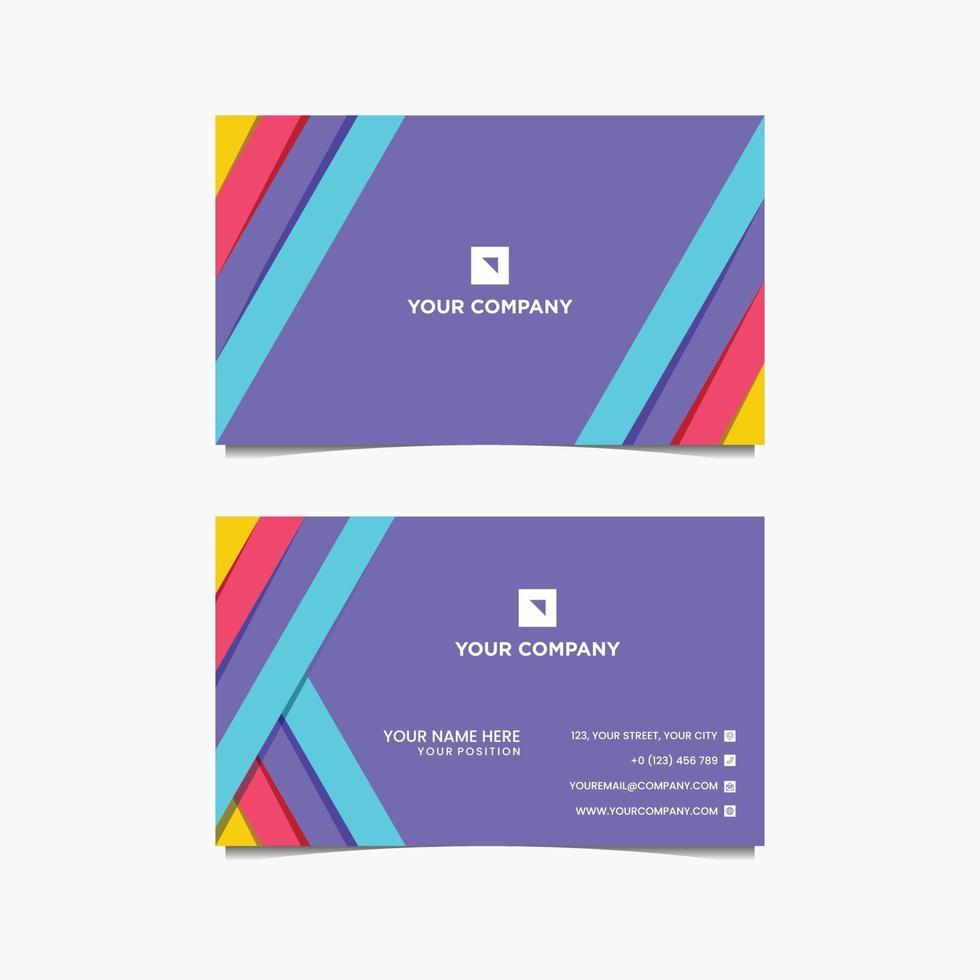 vecteur de conception de carte de visite en couleur