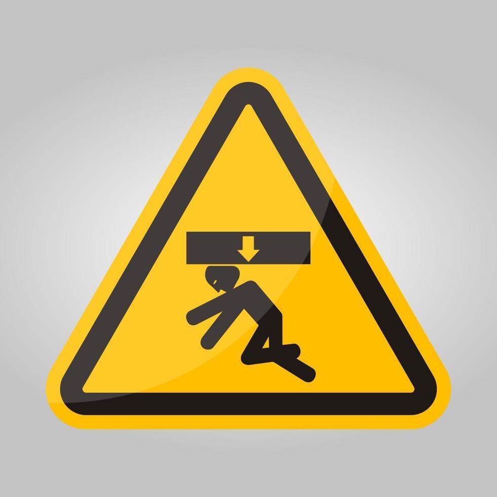 force d'écrasement du corps du signe de symbole ci-dessus, illustration vectorielle, isoler sur l'étiquette de fond blanc .eps10 vecteur