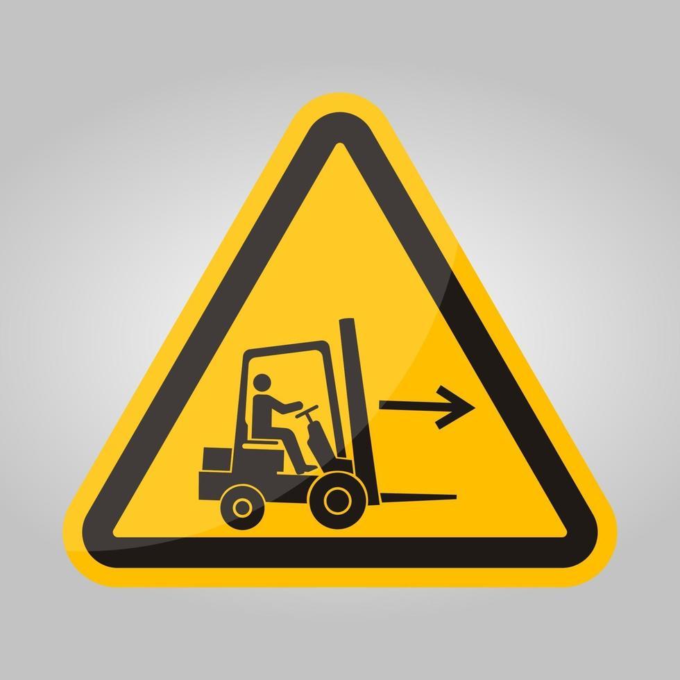 Signe de symbole droit point chariot élévateur isoler sur fond blanc, illustration vectorielle eps.10 vecteur