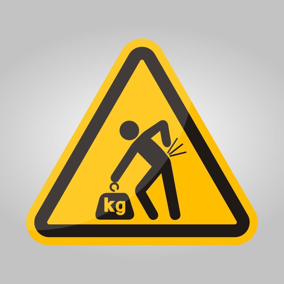 Signe de symbole de danger de levage, illustration vectorielle, isoler sur l'étiquette de fond blanc .eps10 vecteur
