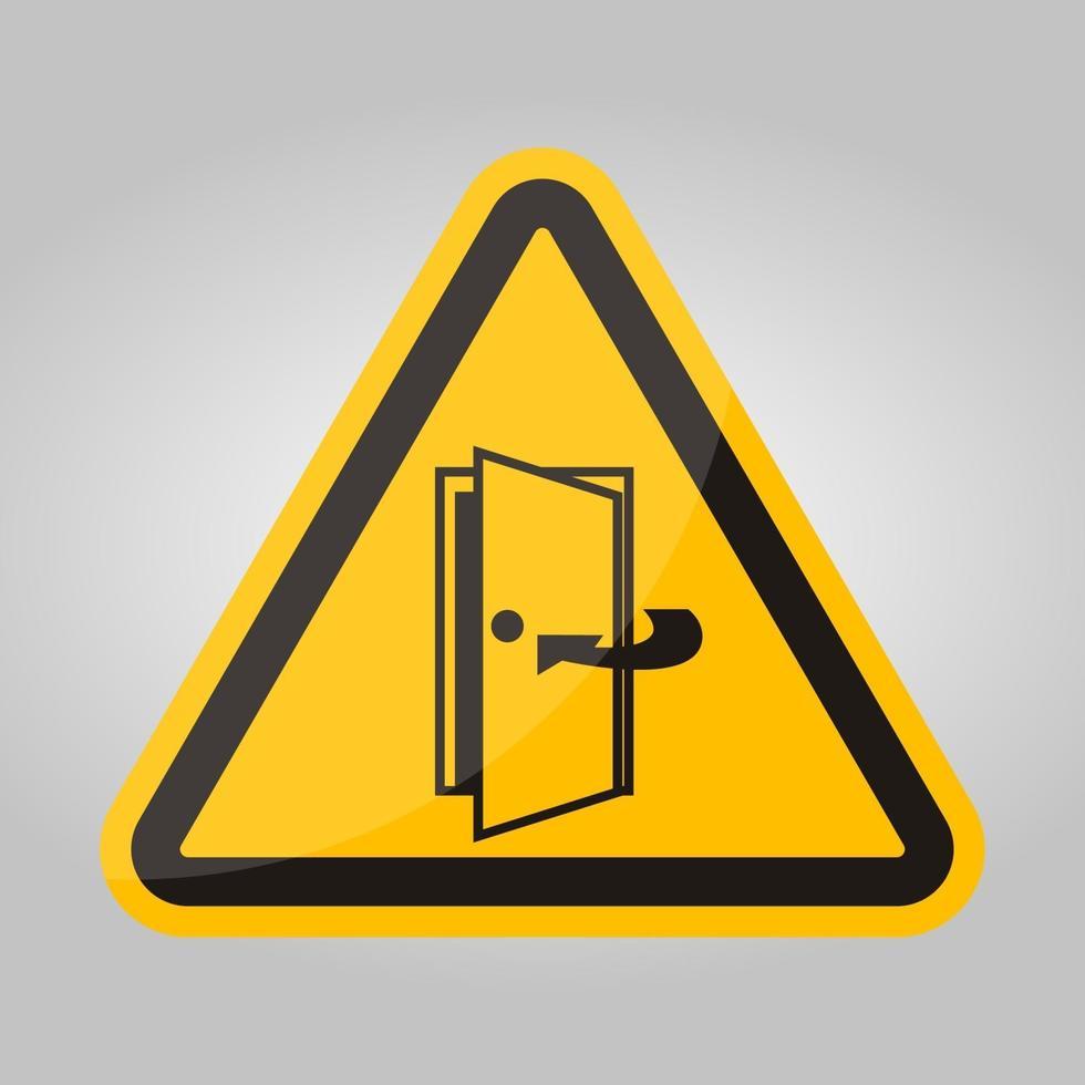 Garder la porte fermée signe symbole isoler sur fond blanc, illustration vectorielle eps.10 vecteur
